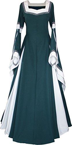 Dornbluth Damen Mittelalterkleid Guinevere Made in Germany (52/54, - Guinevere Kostüm Für Erwachsene