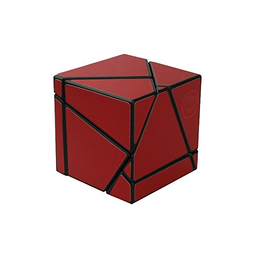 Wings of wind - Ghost Zauberwürfel Black Body DIY Neuer Aufkleber Speed Magic Cube, 2x2x2 Ghost Puzzle Cube (rot)