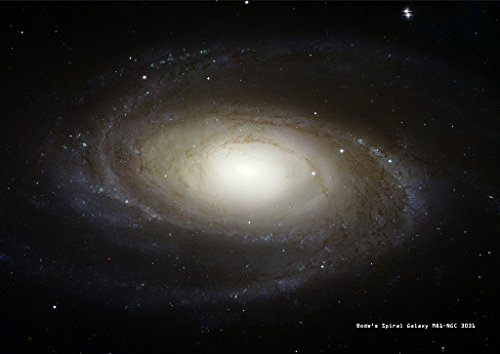 Hubble Astronomy Poster Bode's Spiral Galaxy M81-NGC 3031, A1