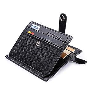 flintronic Porta Carte di Credito e Tasche Pelle, RFID/NFC Blocco Portafoglio Bifold Magico ID Clip 7 spesavip