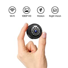 Idea Regalo - Victure Mini Telecamera Spia FHD 1080P Microcamera Spia Bottone Videocamera Nascosta con Visione Notturna Video Registratore Sorveglianza con Allarme di Movimento Portatile Batteria.