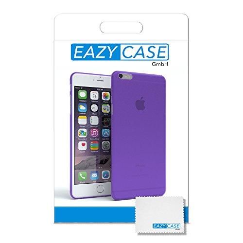 """EAZY CASE Handyhülle für Apple iPhone 6S Plus, iPhone 6+ Hülle - Premium Handy Schutzhülle Slimcover """"Clear"""" hochwertig und kratzfest - Transparentes Silikon Backcover in Klar / Durchsichtig Matt Lila"""