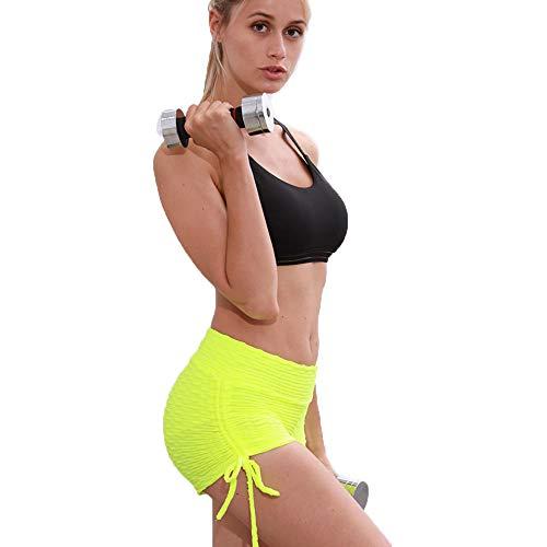 ZHAOHE Damen Fitness Shorts Active Wear Workout Athletische Shorts mit Angesagtem Design (Frauen Athletisch Shorts)