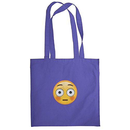 Texlab–Flushed Face Emoji–sacchetto di stoffa Marine