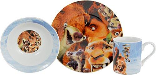 Ice Age 5 Kollision voraus! Frühstücks-Set, 3-teilig, Teller, Müslischale, Tasse Lizenzprodukt