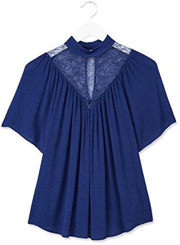 FIND Damen Top Lace Yoke Blau (French Blue)