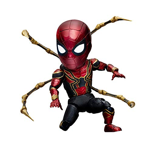 Deluxe-shop Schreibtisch (DS- Statue Spiderman-Figur - Unendlicher Krieg Stahl Spiderman Deluxe Edition, Marvel Heroes Zurück zu Schultag Spider-Man-Puppen, Spider-Man Titan Hero Series Figur mit Titan Hero Power &&)