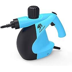 Nettoyeur à vapeur pressurisé portatif MLMLANT avec ensemble d'accessoires de 11 pièces - Multi-usages et multi-surfaces Nettoyage à la vapeur naturel, Auto, Patio, Plus