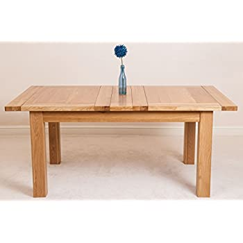 Seattle 150cm - 210 cm Oak Extending Dining Table and 6 Chairs Dining Set with Lincoln Chairs