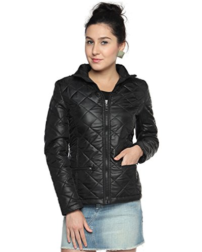 Campus Sutra Womens Bomber Jackets(AW15_JK_W_P4_BL_M)