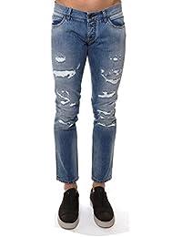 Dolce E Gabbana Homme G6XNGDG8U26S9001 Bleu Claire Coton Jeans