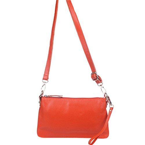 Frauen Einfache Handtasche Lässig Tasche Handtasche Leder Messenger Tasche Orange