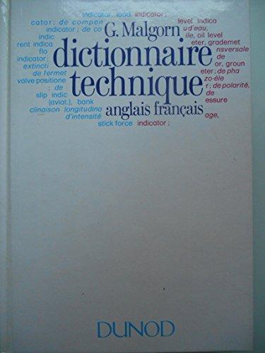 DICTIONNAIRE TECHNIQUE ANGLAIS-FRANCAIS par Malgorn