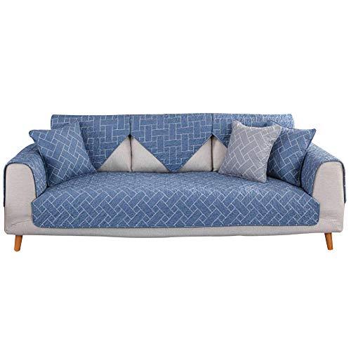 Aqawas sofa throw cover furniture proteggi-divano antiscivolo in cotone divano four seasons universal divano a strisce asciugamano per cane divano antimacchia divano componibile,blue_28*59inch