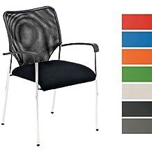 CLP Silla de espera CUBA, Altura del asiento 50 cm negro