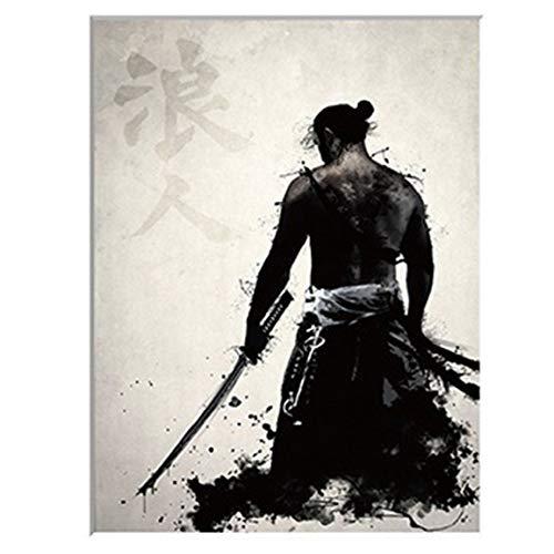 Cuadro de Lienzo con diseño de Samurai japonés