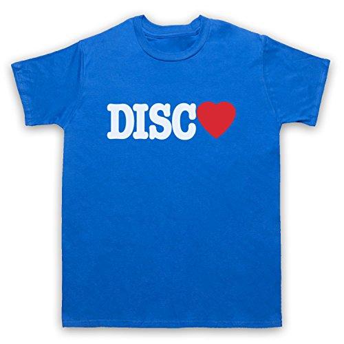 I Love Disco Slogan Herren T-Shirt Blau