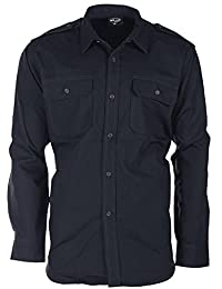 Mil-Tec RipStop Chemise manches longues navy bleu