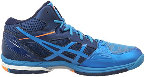 Asics Gel-Volley Elite 3, Scarpe da Pallavolo Uomo Blu (Mt Blue/White/Hot Orange)