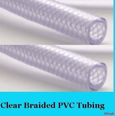 19mm PVC-Schlauch 1Meter klarer geflochten flexibel Wasserrohr Wasser Schlauch (Geflochtene Waschmaschine Schlauch)