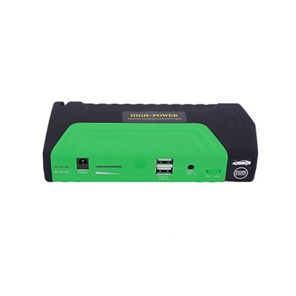 Cnmodle – Batería de emergencia y arrancador portátil para coche, 400 A, 15000 mAh, batería externa con linterna de 3 LED, y USB doble para cargar el móvil, para iPhone, Samsung, iPad, Tablet, Sony, MP3 / MP4 y más