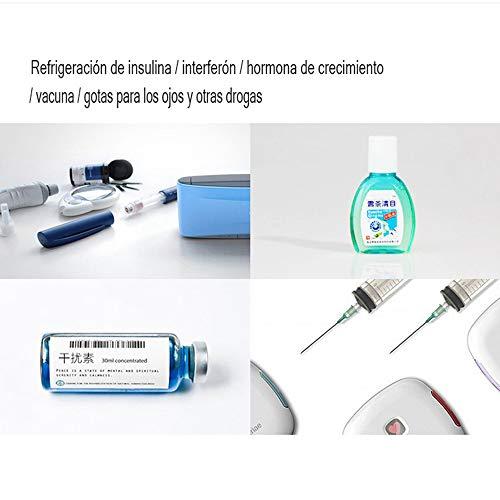 41X282ubhiL - MaquiGra Nevera Portátil para Medicamento Nevera Inteligente para Coche Refrigerador de Medicina Mini Caja de insulina Semiconductor Refrigerador de Coche Viaje Hogar(2-8℃) Temperatura Constante