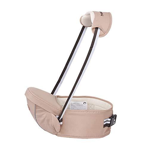 CXYGSJJ Portabebés Asiento De Cadera Asiento De Cintura Taburete Asiento para Bebés Pequeños, Peso Ligero Y Trabajo Ahorre para Todas Las Estaciones Bibes para Bebé. (Color : Beige)