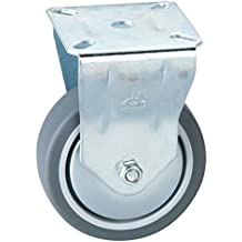 Kunststoffrad grau Stahlblech verzinkt D/örner Helmer 790110 Lenkrolle /ø 25 mm