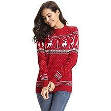 Abollria Colección de Navidad-Suéteres Navideños Sudadera y Jersey de  Navidad Chaqueta de b501c10ec0e3