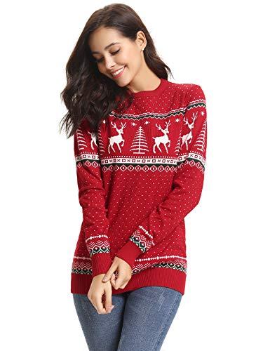 abollria maglioni natalizi maglione elegante a girocollo per natale pullover a maglieria per donna umono bambina e bambino