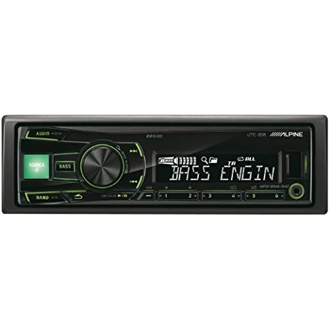 Alpine UTE-81R sintonizador de CD/DVD para el coche - Radio para coche (AAC, MP3, WMA, FM, LW, MF, 87,5 - 108 MHz, 531 - 1602 kHz, LCD,