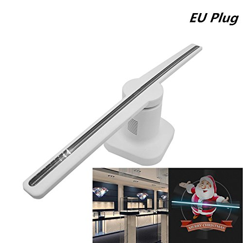 XuBa Holographische Projektor 42 CM 224LED 3D Beratung Player Hologramm Werbung Display Fan Weiß