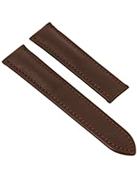 Maurice Lacroix Pontos Elegant Replacement Band for clamped clasp Leather withtelbrown without Emblem 26077, width:20mm