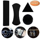 Nakeey 4 Stück Gel Anti-Rutsch-Pad,Handy KFZ Halterung,Schwarz Antirutsch Pads Auto Antirutschmatte Armaturenbrett Klebepads Ständer für Smartphones Tablets