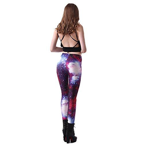 BOZEVON Donna Sport Pantaloni Full Length Leggings Pantaloni Collant Elastico A 4