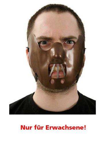 (Maulkorb Maske Halloween Universalgröße Erwachsene)