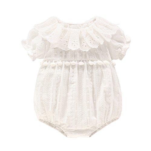 Bambino Pagliaccetto - Neonata Tuta Cotone Manica Corta Tutina Bambina Infantile Body Attrezzatura Neonato Principessa Outfits