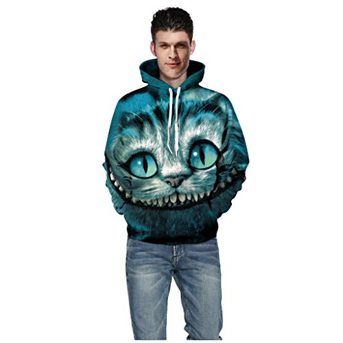 Kostüm Minaj Nicki Kinder - Splrit-MAN Unisex 3D Hoodie Herren Damen Kapuzenpullover 3D Schädel Druck Oversize Hoodie Pullover Sweatshirt Winter Warmer Pullover Kapuzenpullover Herren Slim Fit Strickpullover