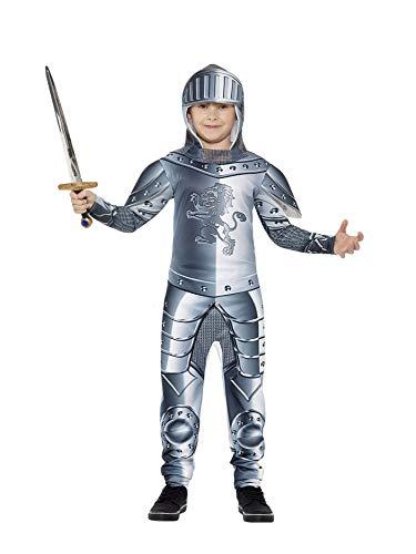 Ritter Kostüm 2 Jahre Alt (Smiffys Kinder Deluxe Ritter Kostüm, Jumpsuit und Kapuze, Größe: S,)