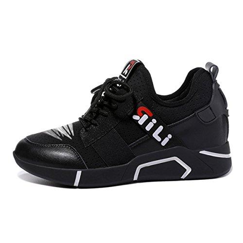 lusam Gefühl Damen Leicht Sneakers Fashion Road laufschuhe Trail atmungsaktiv Athletic Schuhe, damen, Schwarz , US6.5