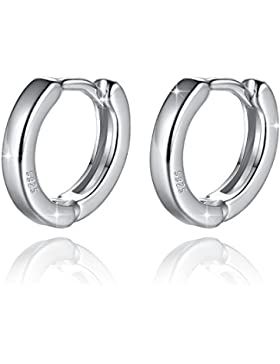 Fashmond Doppel Creolen aus 925 Sterling Silber - Leicht Design Für Frauen Kinder Mädchen Herren - Geschenke Für...