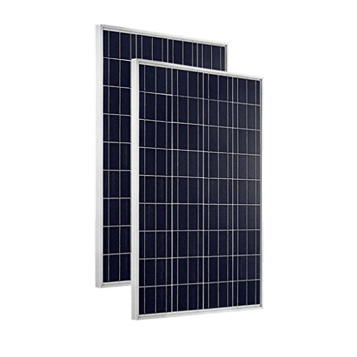 Giosolar Solarmodul Polykristallin 200W (2X100 Watt) Solarpanel - Solarmodul Solarzelle Photovoltaik, 100 W, 12 V PV-Modul Mit 90cm Kabel und MC4 Steckern-Camping