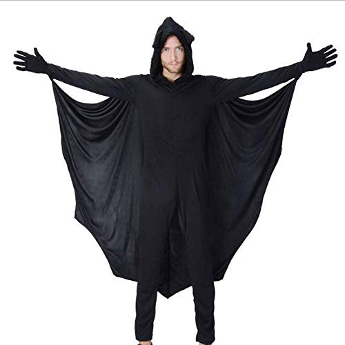 Kostüm Batman Code - QWE Halloween Kostüm Herren Jumpsuit Fledermaus Kostüm Karneval Ball Kostüm Adult Performance Kostüm