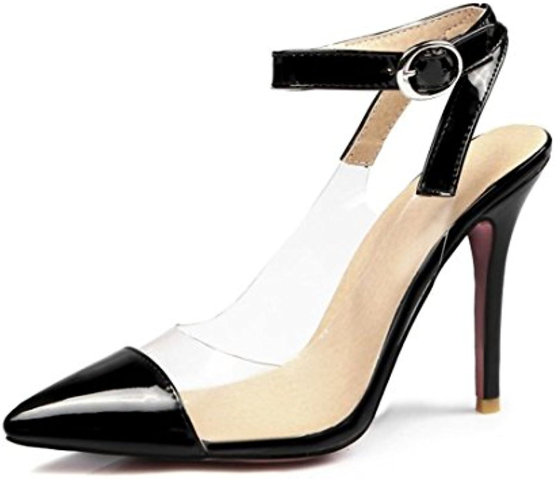 AIKAKA Chaussures pour Femmes Printemps Été avec des  Transparentes s Transparentes  Grandes Tailles Talons HautsB07F82NP8JParent 663e50
