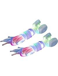 TOOGOO(R) 1 pares de Cordones de Zapato con Luz LED de Flash Cadena de la correa de Barra luminosa para Fiesta Discoteca Multicolor