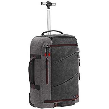 f0d0ae9520 Cabin Max Manhattan Valise à roulettes Cabine Hybride Se Transforme dans en  Sac à Dos ou Sac à Bandoulière - 55 x 40 x 20 (Gris/Jaune) (Gris/Rouge)