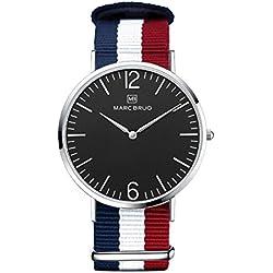 Marc Brüg Men's Minimalist Watch Ibiza 41 Black