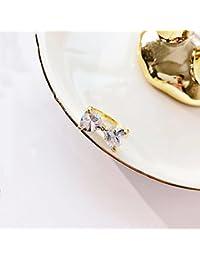 HJWMM Anillo Simple Del Zircon Del Estilo Europeo Y Americano, Anillo Del Temperamento Del Diamante