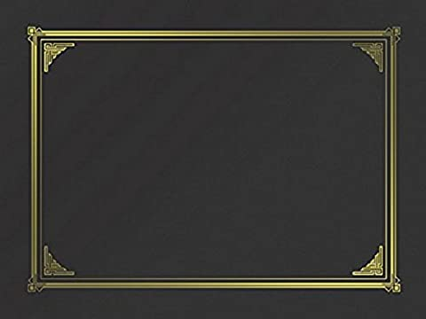 Geographics Black Classic Linen Document Covers, 9.75 x 12.5 Inches,