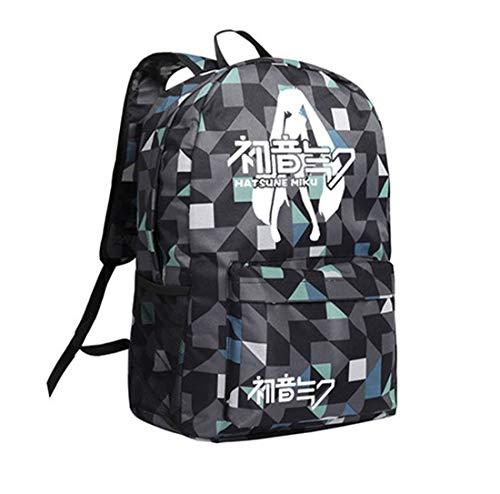 Dailygocn Miku Tasche Cosplay Backpack Oxford Fabric Umhängetasche Schulranzen für Teenager Anime Kostüm ()